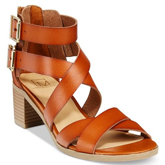 Material Girl Shoes - Material Girl/Macy's Brown Ankle Strap Sandals.